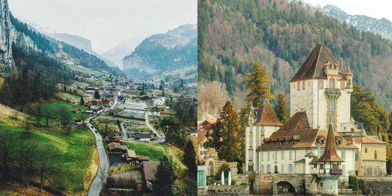 Switzerland. Sights-seeing.