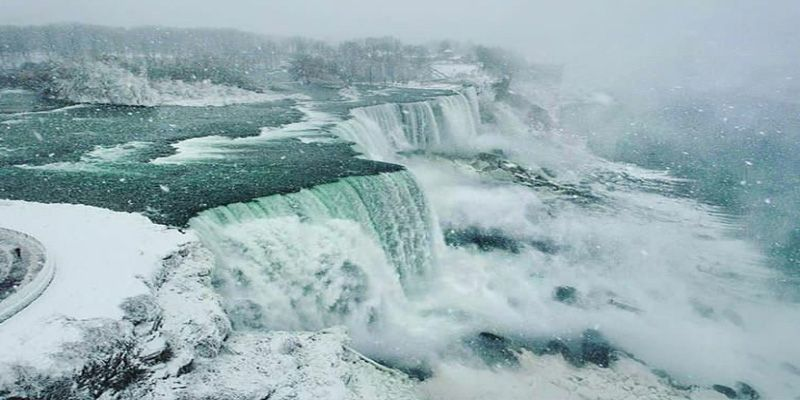 Niagara Falls in winter. USA